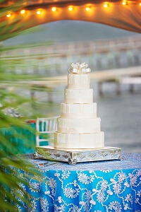 Wedding Cake for Beach Wedding in Emerald Isle, NC