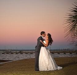 Wedding Couple on Emerald Isle Beaches After Wedding