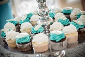 Wedding Cupcakes for Emerald Isle NC Beach Wedding